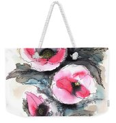 Abstract Red Poppies Weekender Tote Bag