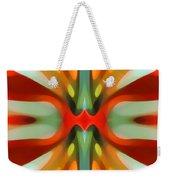 Abstract Red Tree Symmetry Weekender Tote Bag by Amy Vangsgard