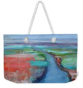 Abstract River Weekender Tote Bag