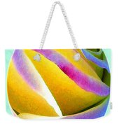 Abstract Rose Oval Weekender Tote Bag