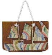 Abstract Sailboat Weekender Tote Bag