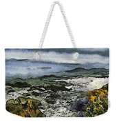 Abstract Seascape Morro Bay California Weekender Tote Bag