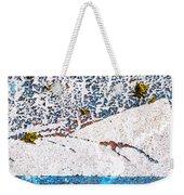 Abstract Snow Storm Weekender Tote Bag