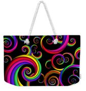 Abstract - Spirals - Inside A Clown Weekender Tote Bag by Mike Savad
