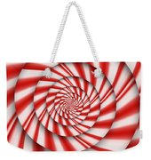 Abstract - Spirals - The Power Of Mint Weekender Tote Bag by Mike Savad