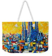 Abstract Sunset Over Sagrada Familia In Barcelona Weekender Tote Bag