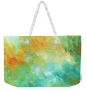 Abstract Textured Decorative Art Original Painting Gold And Teal By Madart Weekender Tote Bag