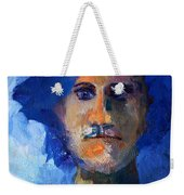 Abstract Thinking Man Portrait Weekender Tote Bag