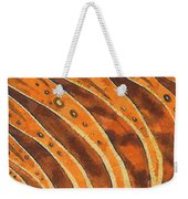 Abstract Tiger Stripes Weekender Tote Bag