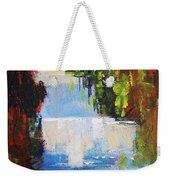 Abstract Waterfall Painting Weekender Tote Bag