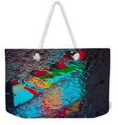 Abstract Wet Pavement Weekender Tote Bag