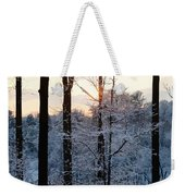Abstract Winter Sunset Weekender Tote Bag
