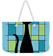 Abstract With Cat In Blue Weekender Tote Bag
