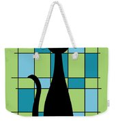 Abstract With Cat In Green Weekender Tote Bag