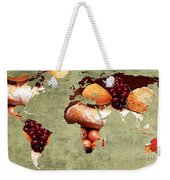 Abstract World Map - Harvest Bounty - Farmers Market Weekender Tote Bag