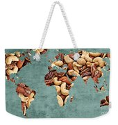 Abstract World Map - Mixed Nuts - Snack - Nut Hut Weekender Tote Bag