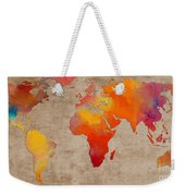 Abstract World Map - Rainbow Passion - Digital Painting Weekender Tote Bag