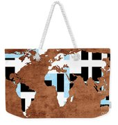 Abstract World Map - Which Way Is Up - Painterly Weekender Tote Bag