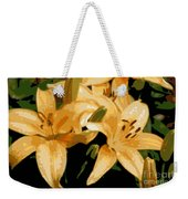 Abstract Yellow Asiatic Lily - 1 Weekender Tote Bag