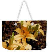 Abstract Yellow Asiatic Lily - 2 Weekender Tote Bag