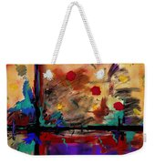 Abstract Yellow Horizontal Weekender Tote Bag