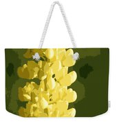 Abstract Yellow Lupine Weekender Tote Bag