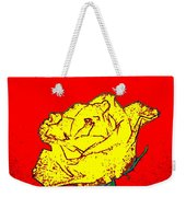 Abstract Yellow Rose Weekender Tote Bag