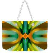 Abstract Yellowtree Symmetry Weekender Tote Bag by Amy Vangsgard