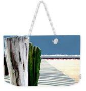 Abstracted Beach Dune Fence Weekender Tote Bag