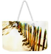 Abstracted March Of The Colored Dune Fence Weekender Tote Bag