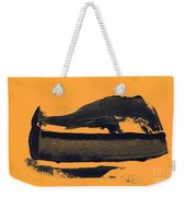 Abstracto Black Yellow Weekender Tote Bag