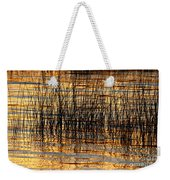 Abstract Reed And Water Patterns Weekender Tote Bag