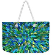 Abstrract Cubes Blue Weekender Tote Bag