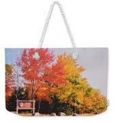 Acadia National Park Entryway In The Fall Weekender Tote Bag