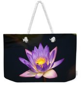 Accents On A Purple Waterlily... Weekender Tote Bag