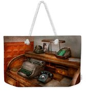 Accountant - Typewriter - The Accountants Office Weekender Tote Bag by Mike Savad
