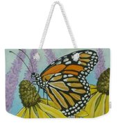 Aceo Monarch On Wild Grey Headed Coneflower Weekender Tote Bag