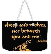 Achilles Admonition Weekender Tote Bag
