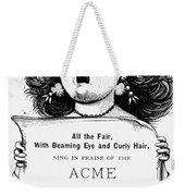 Acme Hair Dye Ad, C1890 Weekender Tote Bag