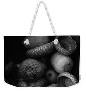 Acorns Black And White Weekender Tote Bag