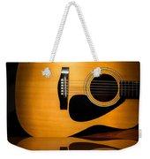 Acoustic Guitar Reflected Weekender Tote Bag