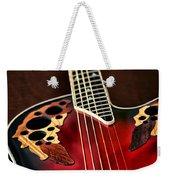 Acoustical Red Weekender Tote Bag