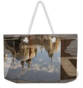 Acqua Alta Or High Water Reflects St Mark's Cathedral In Venice Weekender Tote Bag