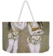 Acrobats At The Cirque Fernand Weekender Tote Bag by Pierre Auguste Renoir