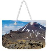 Active Volcanoe Cone Of Mt Ngauruhoe New Zealand Weekender Tote Bag
