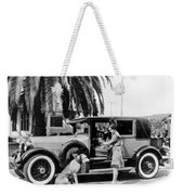 Actress And Dogs Go On Trip Weekender Tote Bag
