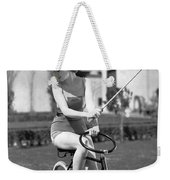 Actress Plays Bike Polo Weekender Tote Bag