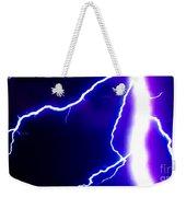 Actual Lightning In Zoom Image Weekender Tote Bag