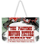 Ad Moving Picture, 1913 Weekender Tote Bag