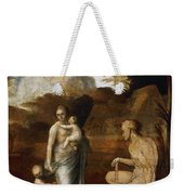 Adam And Eve With Cain And Abel Weekender Tote Bag